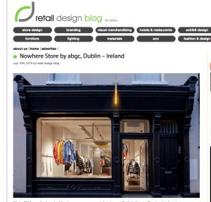 screen shot of retail design blog