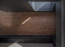 brick abstract interior of architectural extension