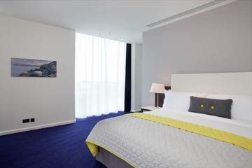 Interior photograph of luxury bedroom Marker Hotel Dublin