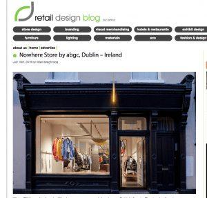 screen shot of retail design blog