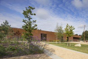 Corten steel facade by ABK Architects Nenagh Leisure centre